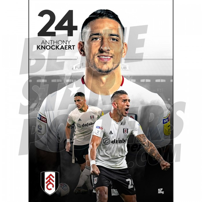 Fulham FC A3 Knockaert 19/20 Player Poster