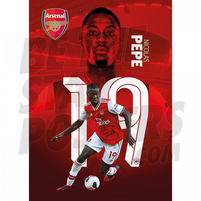 Pepe Arsenal FC 19/20 Action Poster A2/A3/A4
