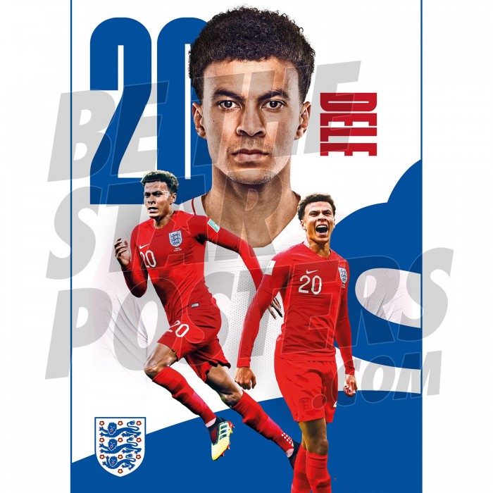 Dele Alli England A3 Poster