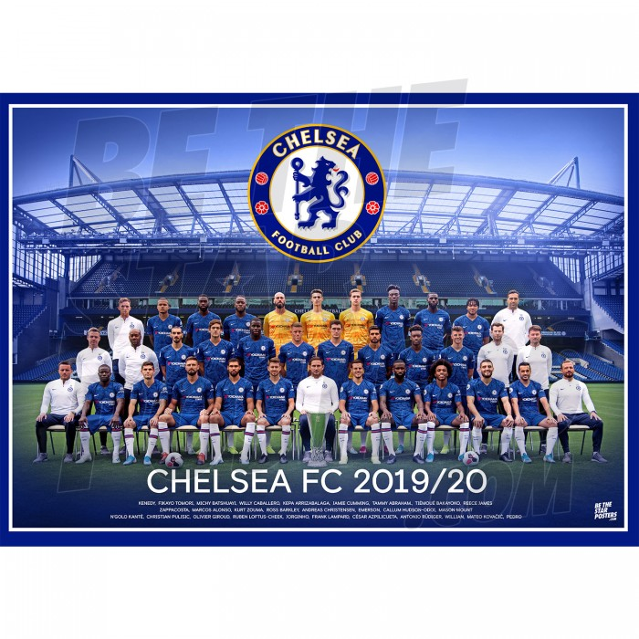 Chelsea FC A3 Squad Poster