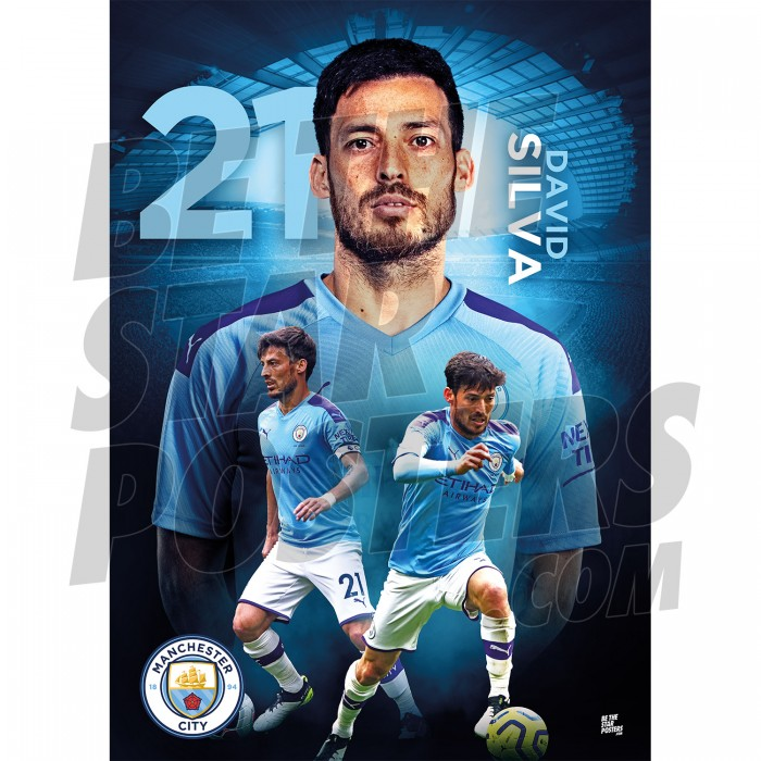 Silva A3 Man City FC 19/20 Action Poster