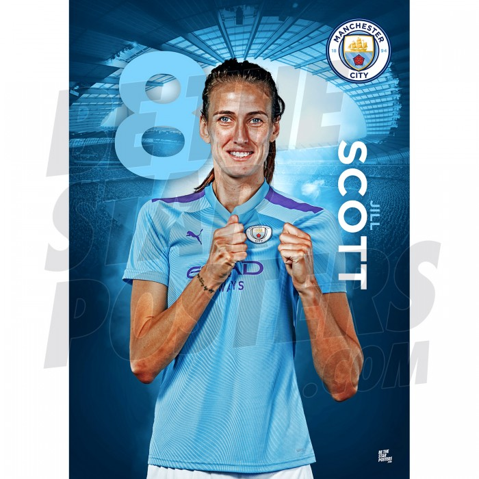 Jill Scott A3 Man City FC 19/20 Official Poster