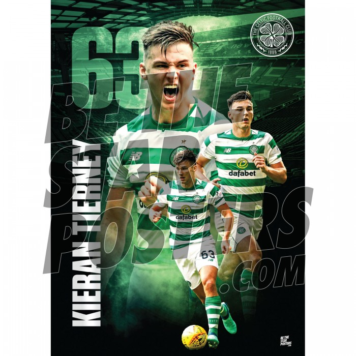 Celtic FC A3 Tierney 18/19 Player Poster