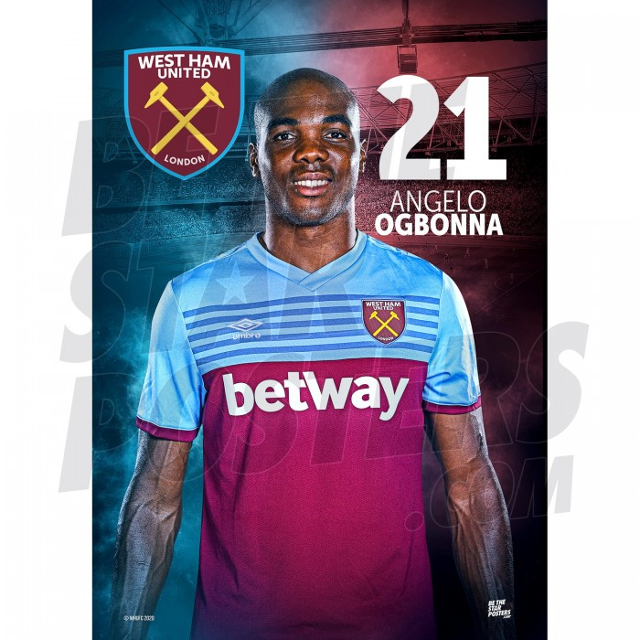 West Ham United FC Ogbonna A3 Poster