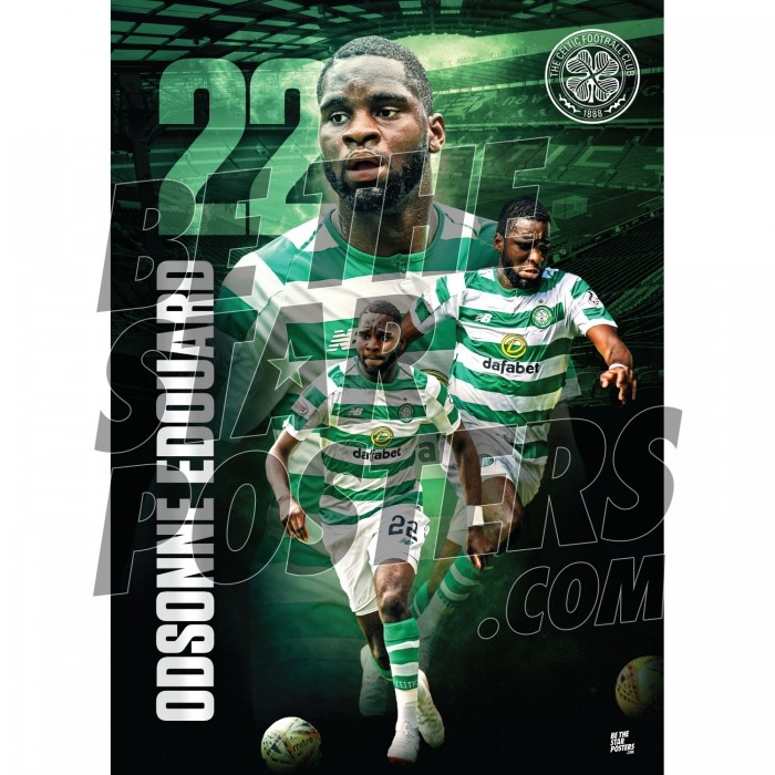 Celtic FC A3 Edouard 18/19 Player Poster