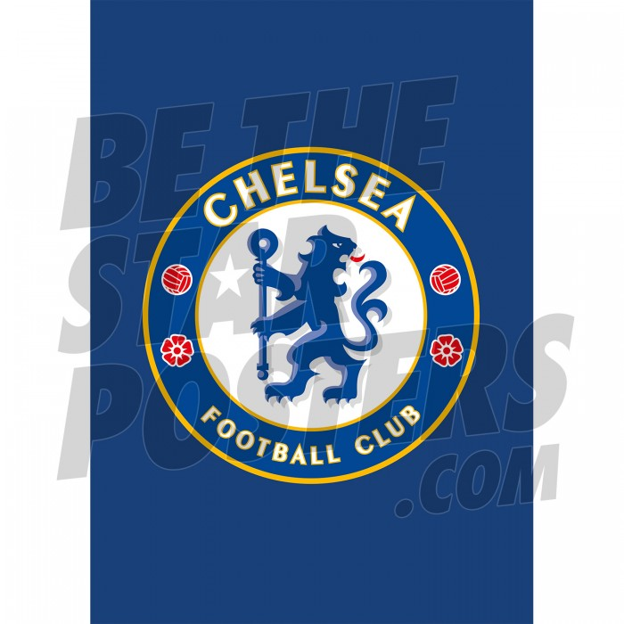 Chelsea FC A3 Crest Poster