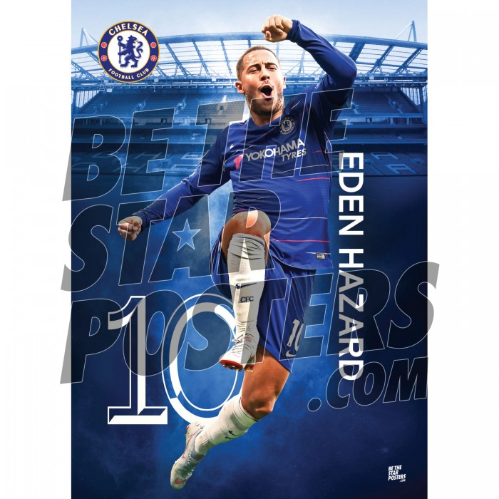 Chelsea FC A3 Hazard 18/19 Player Poster
