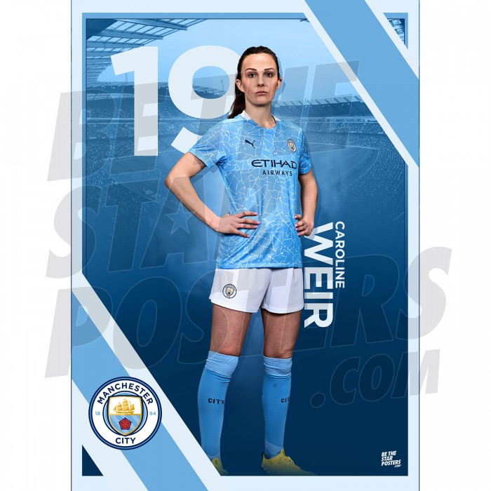 Weir Man City FC A3 Poster