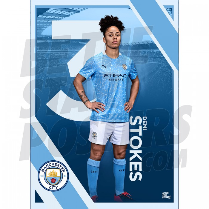 Stokes Man City FC A3 Poster