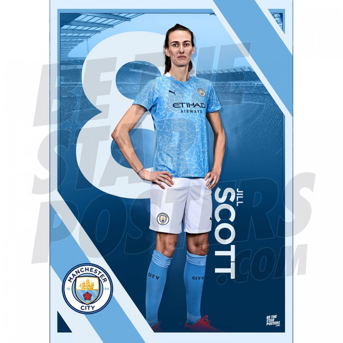 Scott Man City FC A3 Poster
