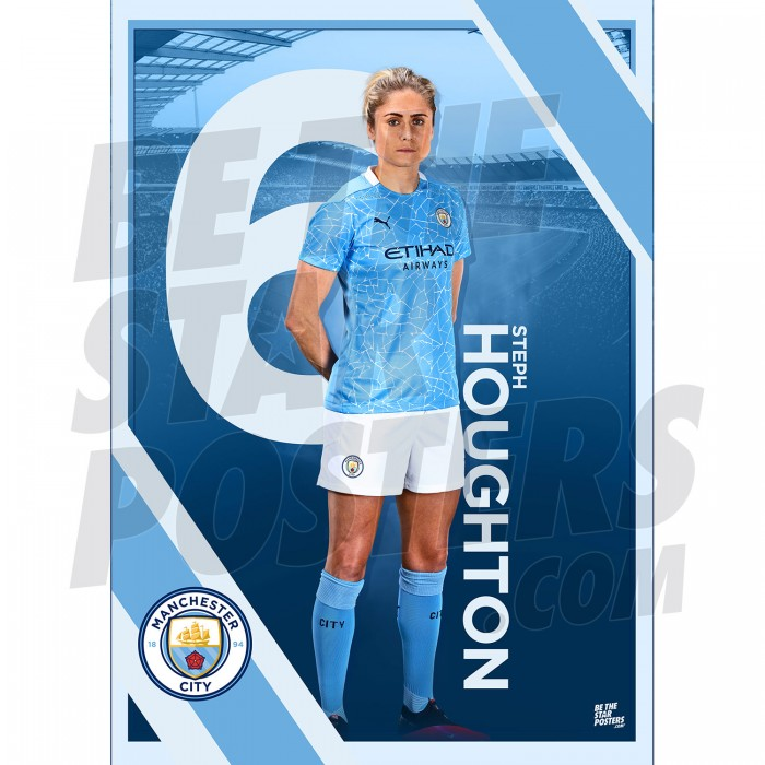 Houghton Man City FC A3 Poster