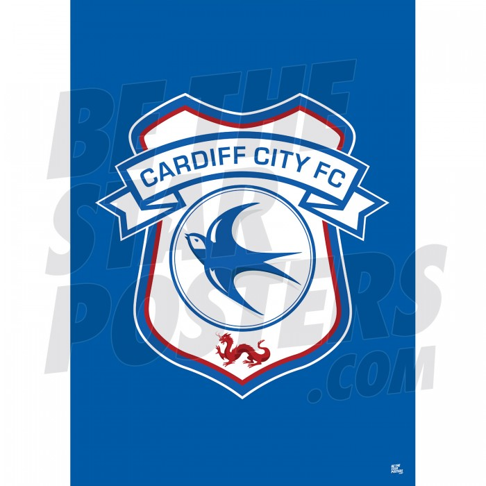Cardiff FC Crest Poster A2/A3/A4