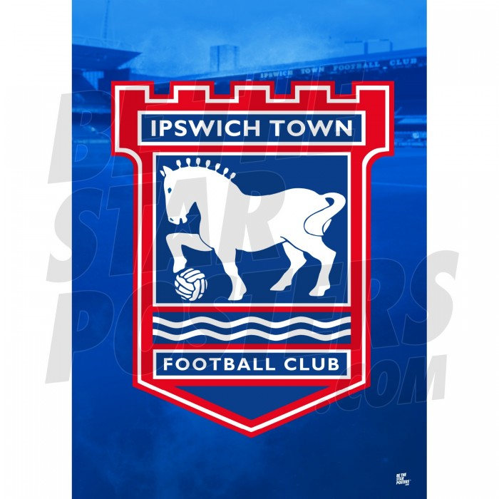 Ipswich Town FC A3 Crest Poster