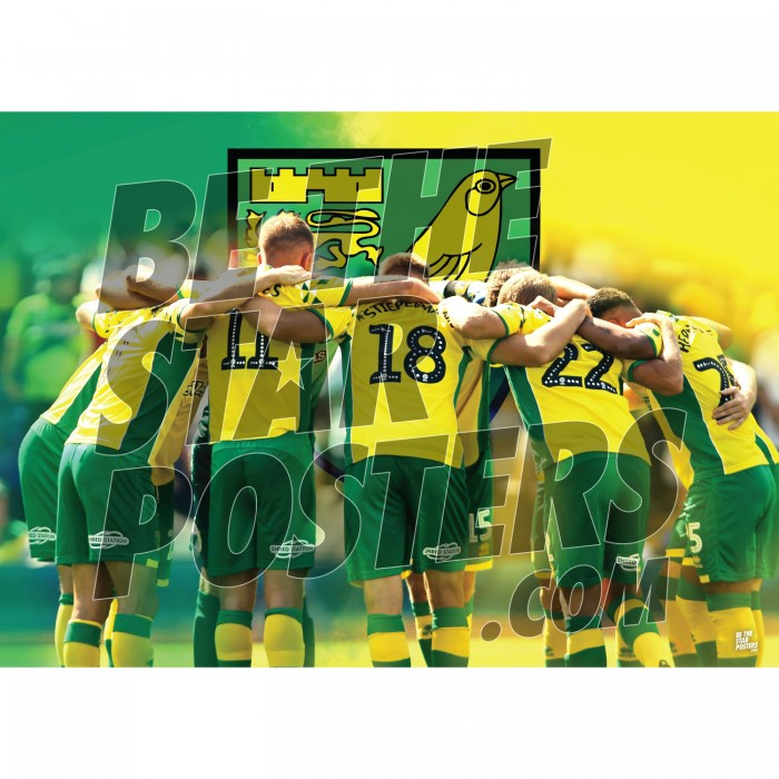 Norwich City FC A3 Huddle Poster