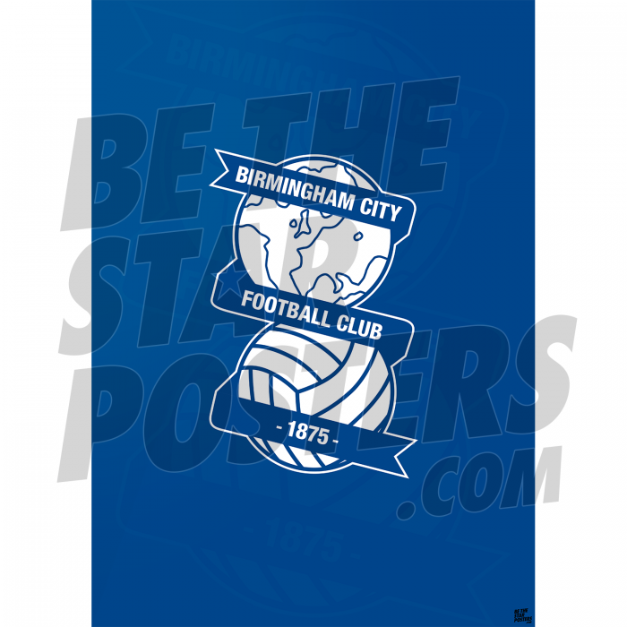 Birmingham City FC A2 Word Poster