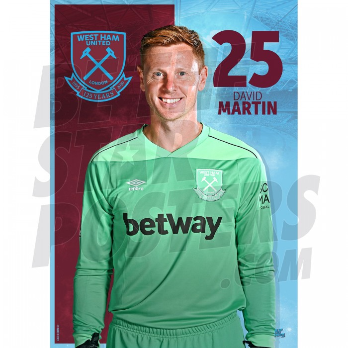 West Ham United FC Martin A3 Poster 20/21
